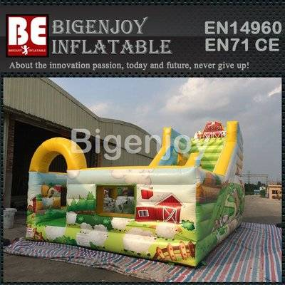 Forest jumping castle inflatable slide