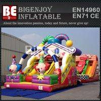 Inflatable slide,jumping castles slide,clown jumping slide