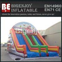 Fireman inflatable slide,giant inflatable slide,Fireman themed slide
