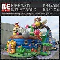 Bee theme inflatable,pirate ship bounce house,Bee bounce house