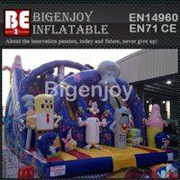 Inflatable Bouncy Slide,Bob Sponge Slide,Bob Sponge Kids Slide