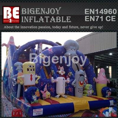 Bob Sponge Kids Inflatable Bouncy Slide