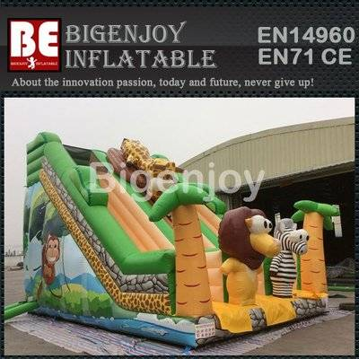 Inflatable Jungle Climb and Slide Bouncy House