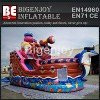 inflatable pirate ship combo slide,octopus inflatable slide,Commercial use combo slide