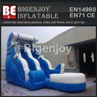 Painting Sea Inflatable Slide,Slide for Commercial Use,Dolphin Inflatable Slide