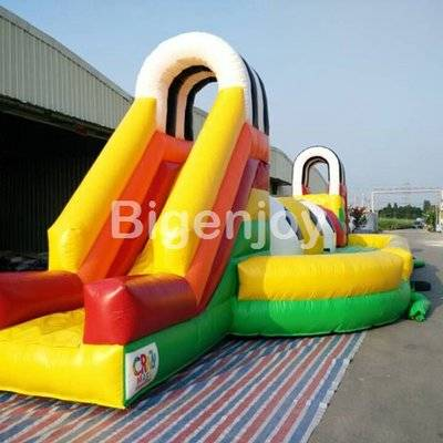 Inflatable mega ball jungle run obstacle course