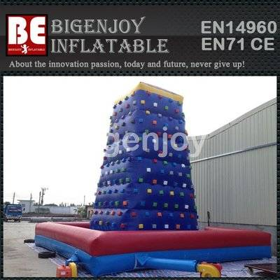 Inflatable rock climbing wall for kids
