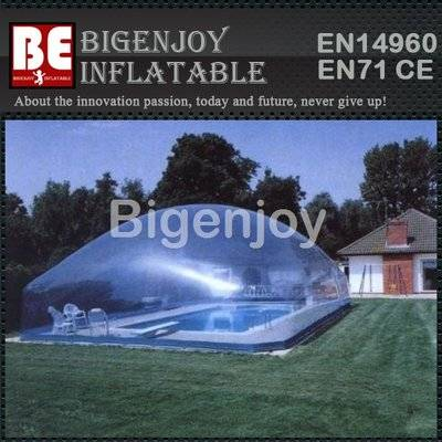Outdoor inflatable tent for swimming pool