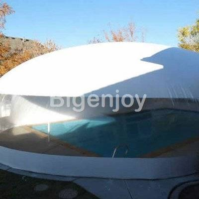 Transparent color swimming pool cover tent
