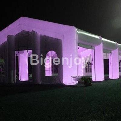 Large wedding marquee tent for outdoor wedding party