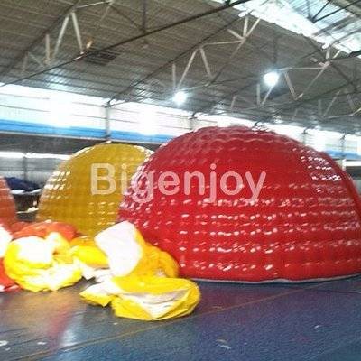 Inflatable camping tent with en14960