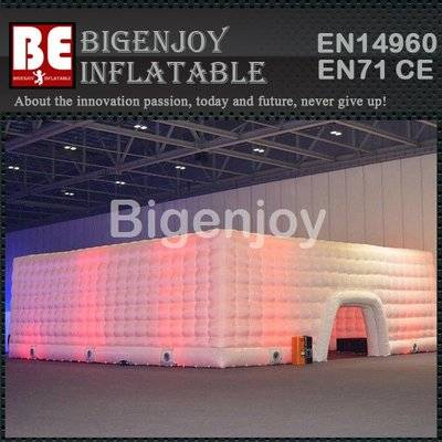 Led square cube tent inflatable building