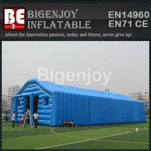 Inflatable tent for storage