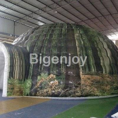 Airtight portable inflatable camouflage tent