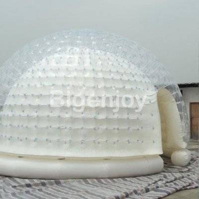 Transparent clear airtight version inflatable lawn tent