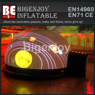 Customizd portable inflatable planetarium tent