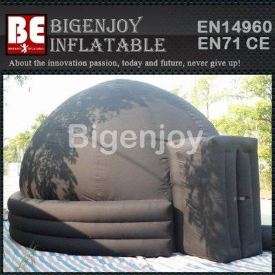 Inflatable dome for digital projection