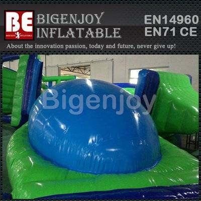 Inflatable water park floating water dome