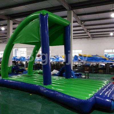 Air-Tight Inflatable Start Line Floating on Water
