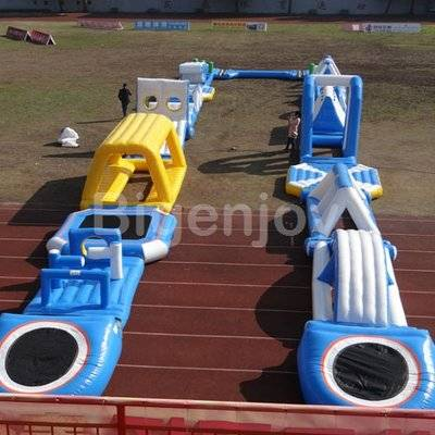Adult and kids Inflatable water obstacle park