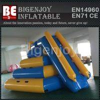 Floating Water Slide,Double Lanes Slide,Inflatable Water Slide