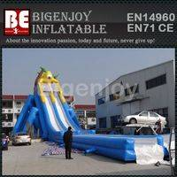 Durable hippo water slide,inflatable water slide,hippo slide for adult