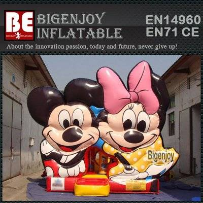 Mickey & minnie inflatable bouncy house
