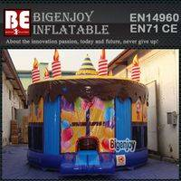 Inflatable birthday cake,cake moon bouncer,Inflatable bouncer
