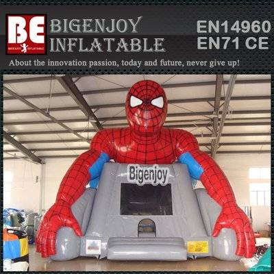 Spiderman air bouncer inflatable trampoline