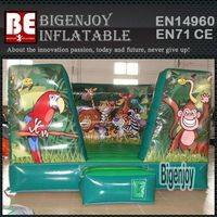 Jungle animals inflatable,inflatable moon bounce,Jungle inflatable bounce