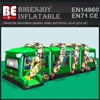 inflatable obstacle course,Jungle bus inflatable,Adult inflatable obstacle