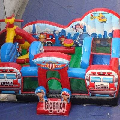 Rescue squad obstacle inflatable playground