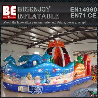 Inflatable Volcano Lagoon Toddler fun city