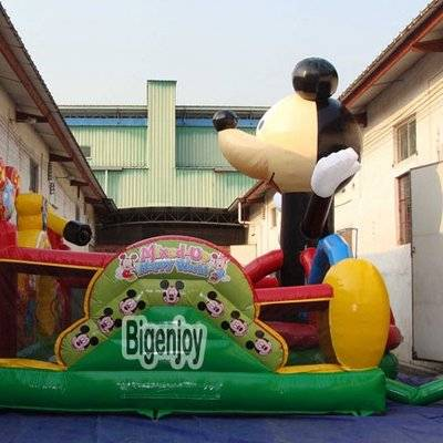Mickey mouse playground inflatable amusement park