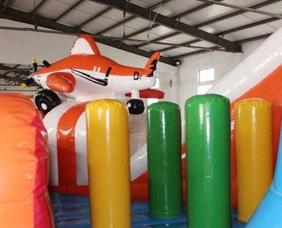Giant inflatable airplane amusement park