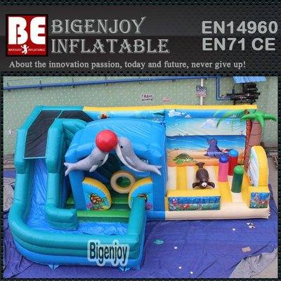 Inflatable fun city sea world