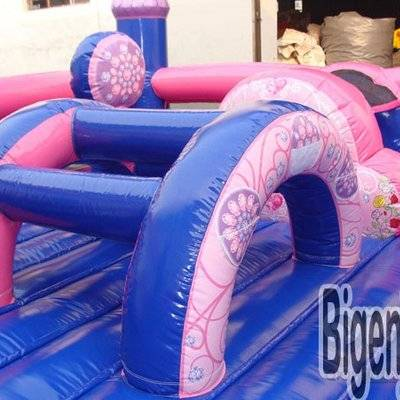 Inflatable princess bouncy slide playground