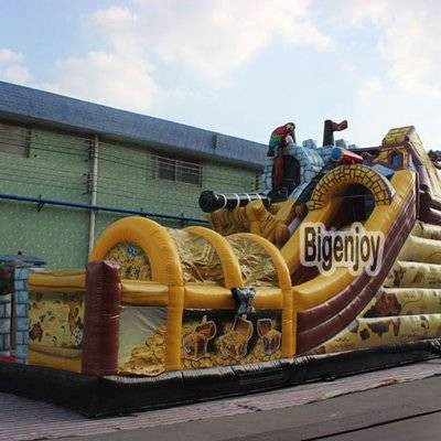 Inflatable pirate kingdom playground games