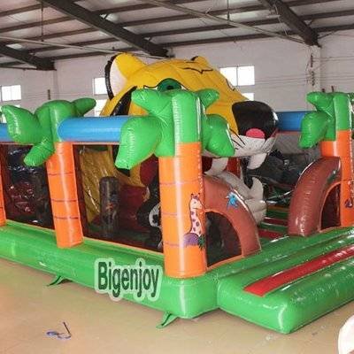 High quality inflatable Tiger Mouth Bounce House