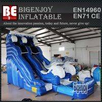 inflatable water slide pool,dolphin inflatable slide,Commercial inflatable water pool