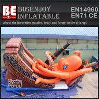 Octopus Inflatable Slide,Inflatable Pirate Ship Slide,Pirate Ship Slide