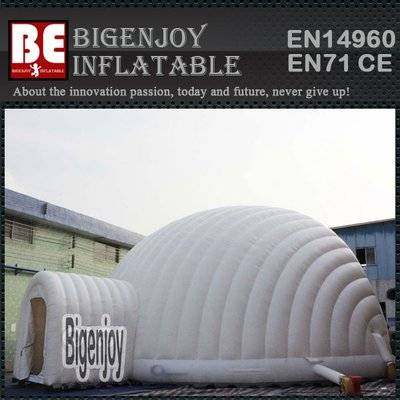Large dome inflatable event tent