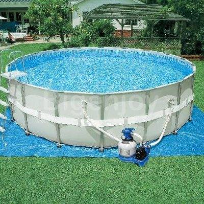 Intex Metal Frame Round Swimming Pool