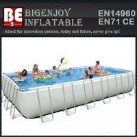 Portable rectangle pool,frame swimming pool,swimming pool