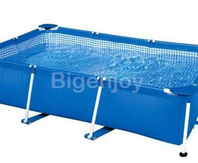 Durable stainless steel frame pool with filter