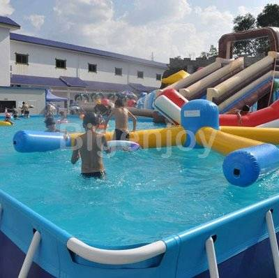 Inflatable large water park bracket frame pool