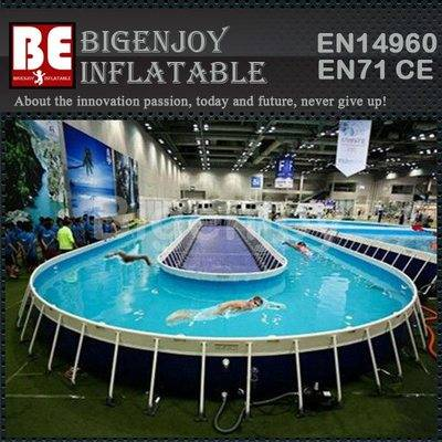 PVC metal frame swimming pool