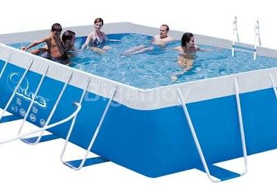 Removable metal frame swimming pool