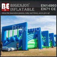 Wrecking ball balance inflatable,obstacle course for fun,Wrecking ball obstacle course
