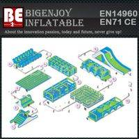 Inflatable 5k,adult obstacle course races,Inflatable obstacle course